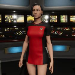 Star Trek Starfleet Officer Uniform Mini Dress (TNG Season 1&2 Uniform)