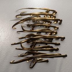 GOLDEN LIGHTS-ART WALL DECORATION