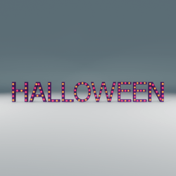 Halloween Marquee Blinking Sign
