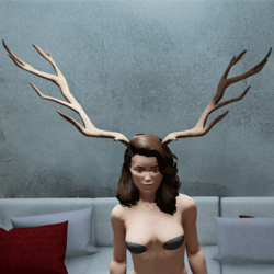 Big Deer Antlers Horns (Female)