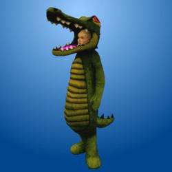 Croc Costume Dark Green (Female)