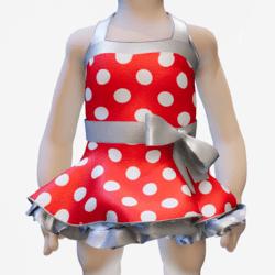 Fifties Rockabilly Polka Dot Dress red Minis
