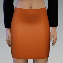 Business Skirt Orange
