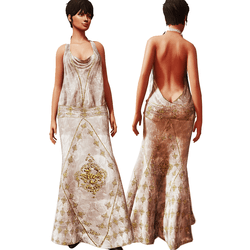 1920's Gown White
