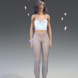 Female - P&G Stripes Leggings