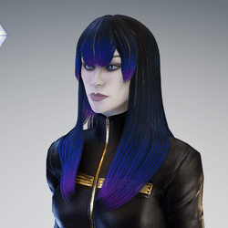 PM - Female Hair 0 - Retro Cyberpunk Color
