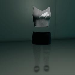 Clubbin Outfit (Grey/Black Crow)