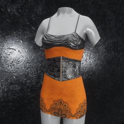 Dress Metallic Ornament orange