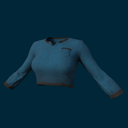 Undershirt Cyan (Clothing) - Female