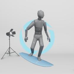 Surfing/Skateboarding - MALE (Emote)