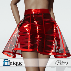 Petra Red Plastic Skirt