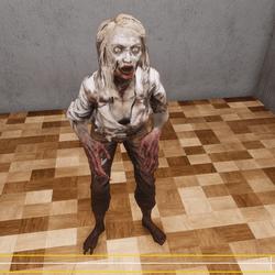Zombie Girl Standing NPC