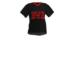 Ladies slogan smile T-shirt  (Red)