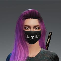 Plain Cat Mask