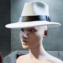 Stylish White Fedora Hat (Female)
