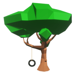 Low Poly Swing Tree