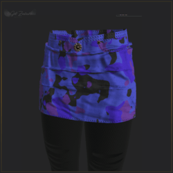 ARMY SKIRT WITH LEGGINGS-BLUE