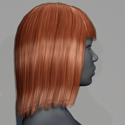 Hair - Middle Long with Fringe - Red Copper