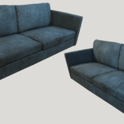 Old Dirty Couch - Blue
