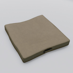 Floor Cushion With Handle Beige