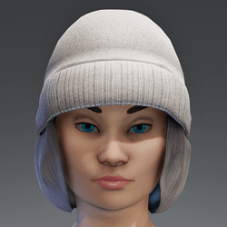 Winter Cap with Color change Cap - Gray FEMALE