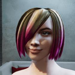 Hair Vanessa pink