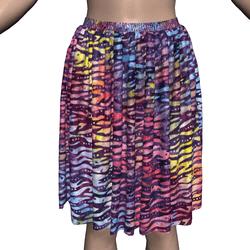 Marvelous Skirt with Rainbow Batik Fabric