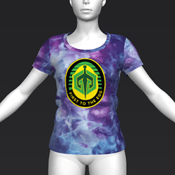 Ready Player One: First To The Egg T-Shirt (Tiedye) (W)