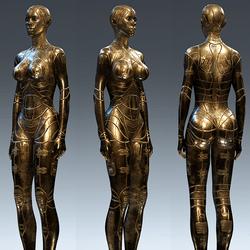 CyberSynthAndroidBody Gold Curvey