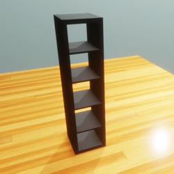 IKEA shelf 1x5 black