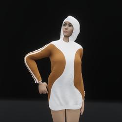 Hoodie Dress Brown (TM)