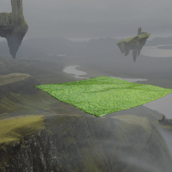 GRASS HILLS SKY PLATFORM/OPEN FIELDS ENVIRONMENT