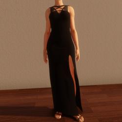 TKA - Arcane black long dress