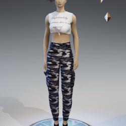 cargo pants for women khaki comouflage