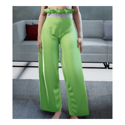 Loose Pants Green