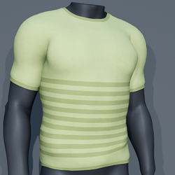 Men - Stripes Tee-Shirt - Green