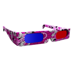 Male Pink 3D Shades