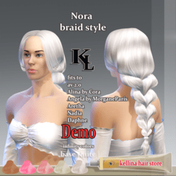 Nora -braid style- base white -infinity colors-demo