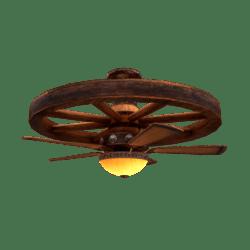 Animated Wagon Wheel Fan