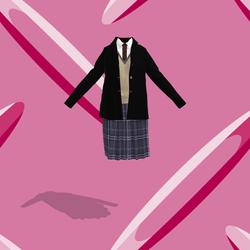 school girl 05 black