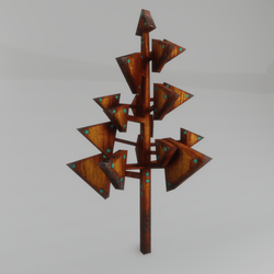 cubism tree - triangle (2)