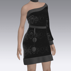 Asymetric Black Dress