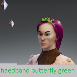 headband butterfly green