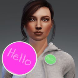 Flair - Button accessory - Hello animated emmisive
