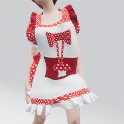 Kawaii Mushroom Dress & Apron