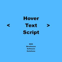 HoverText Script