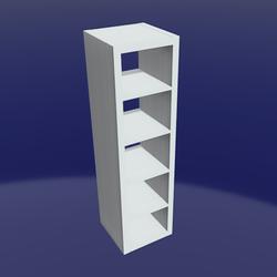 IKEA shelf 1x5 White