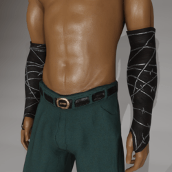 Barbed wire arm bracers