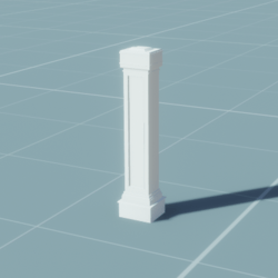 Metal/Marble Fence End (Style2)