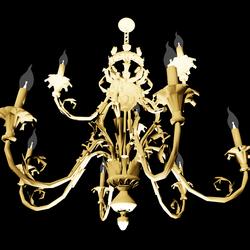Chandelier Gold 9-Bulb Emissive Filament